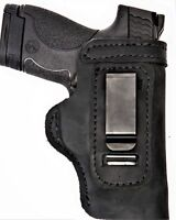 Pro Carry LT RH LH OWB IWB Leather Gun Holster For Ruger LCP 380 w CT Laserguard
