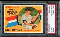 1960 Topps Baseball #139 CARL MATHIAS Cleveland Indians ROOKIE STAR PSA 7 NM