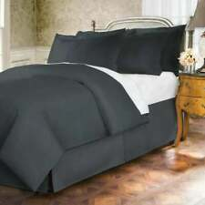 WAMSUTTA Cal King BEDSKIRT Split Corners 400 Thread Count 15 Drop CHARCOAL Gray
