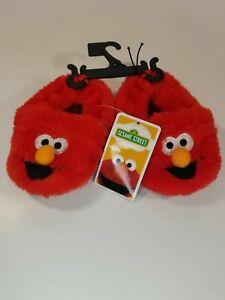 ELMO SESAME STREET Plush Slippers Infant Toddler Various Sizes You Choose