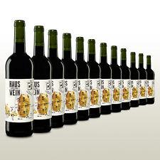 12 Flaschen Hauswein #1, Rotwein aus Spanien, Tempranillo, trocken, Vorratspaket