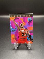 1995-96 Michael Jordan NBA Hoops Number Crunchers Insert #1 of 25 HOF Lot1342