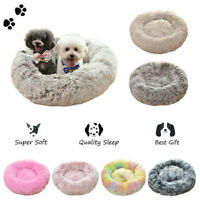 Donut Cat Dog Bed Cushion for Small Medium Dogs Self Warming Cats Calming Beds