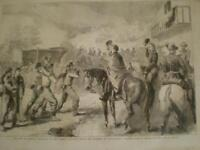 US Civil War Federal wounded after Lewinsville Virginia 1861 old print