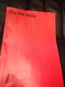 Volkswagen Brochure  Variant Models Produced 8/1970 In Good Condition