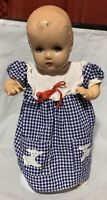 "18"" Horsman Blue Eye Composition Baby Doll Cloth Body Vinyl Arms"