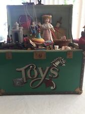 Vintage Enesco Animated Music Box 'Toy Symphony' Treasure Chest of Toys
