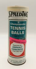 Vintage Spalding Championship Tin with 3 Fluorescent Fuschia Tennis Balls