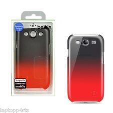 Genuine Belkin Samsung Galaxy S3 i9300 Ultra Delgado Estuche Cubierta Negro Escudo Fade