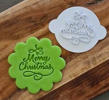 Merry Christmas Cookie Stamp - Cupcake Embosser