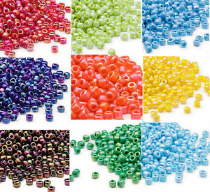 200 Matsuno 6/0 Glass Seed Beads Rainbow Colors Shiny Or Frosted Spacer Beads