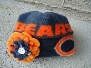 Chicago Bears NFL Fleece Flower Hat - Newborn Baby Girls, Children, Adult women