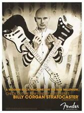 Billy Corgan  **LARGE POSTER** Smashing Pumpkins  Fender Stratocaster Guitar Ad
