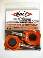 Bolt Chain Adjusters Axle Blocks KTM Orange SX XC 13 14 15 NEW