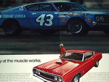 1969 FORD TORINO COBRA ORIGINAL AD * RICHARD PETTY *GT/hood/decal/steering wheel