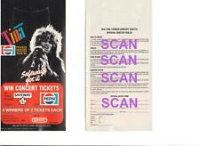 TINA TURNER PEPSI WINNIPEG ARENA MANITOBA CANADA CONTEST TO WIN TICKETS 9/17/85