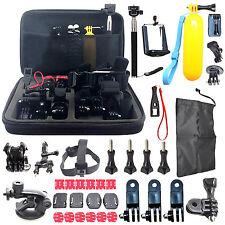 60 Pcs SJCAM Head Chest Accessories Kit Mount Strap For Go Pro Hero 1 2 3 3+ 4
