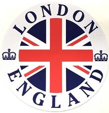 Royal London England with Union Jack Round External Car Bumper Sticker Decal