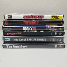 Mixed DVD Movie Lot of 6 The Abyss The Outsiders Predator 2 Rocky III Cover Up