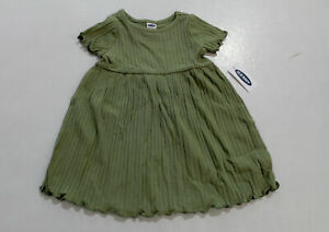 Old Navy Baby Girl's Short-Sleeve Rib-Knit Dress DB8 Linden 12-18 Months NWT