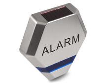 Dummy Burglar Alarm Fake Siren Solar Charged Blue LED Flashing Silver UK