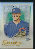 2020 Topps Allen & Ginter Chrome Refractor Parallel #86 Anthony Rizzo Cubs