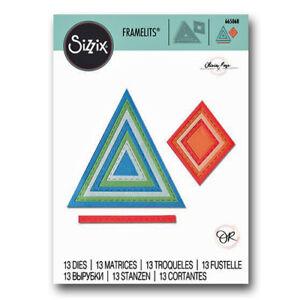 SIZZIX® FRAMELITS™ DIE SET (13PCS) - GEO STITCHED FRAMES RRP £14.99 NOW £6.00