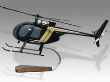 McDonnell Douglas MD500C San Bernalillo Sheriff Wood Display Helicopter Model