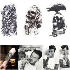 3 Sheet Temporary Removable Tattoo Waterproof Large Arm Body Art Tattoos Sticker