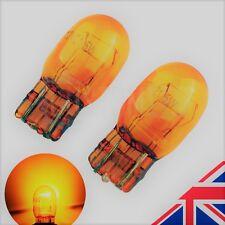 AMBER ORANGE T20 X2 7443 580 W21/5W DRL Side Halogen Headlight Bulbs 6000k(PAIR)