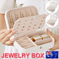 Travel Jewellery Box Jewelry Organizer Storage Case Ring Display Ornaments New