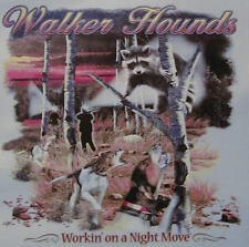 WALKER HOUNDS WORKIN' ON A NIGHT MOVE .... COON HUNTING COONDOGS SHIRT #507