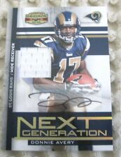 Donnie Avery 2008 Donruss Gridiron Gear Rookie Jersey/Patch+Auto Card-Rams WR