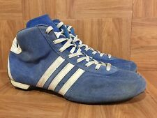 VTG🔥 Adidas Made In West Germany Wrestling Boots Blue Leather Sz 8.5 Fighting