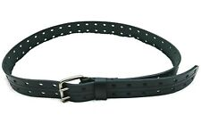 Wrangler Men's Black Double Hole Closure Thick Leather Work Belt Size 44