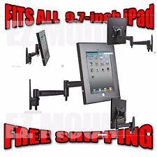 "Safe and Secure Wall Mount Display Stand for Ipad 1, 2, 3, 4 - all 9.7"" Ipads"