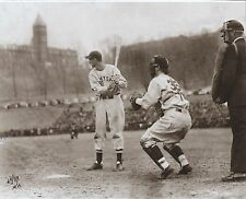 TED WILLIAMS 11x14 1ST Career At Bat HOLY CROSS rare Brearley Sepia B&W
