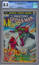 AMAZING SPIDER-MAN #122 - CGC 8.5 OW-WP VF+ Death of Green Goblin