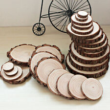 100pcs Unfinished Wood Cutouts Wooden Circles Tree Slices Craft Supplies BO