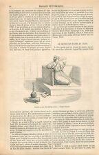 la Chicha narguilé pipe à eau Trône des Chah de Perse Yan' Dargent GRAVURE 1869