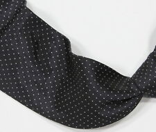 * RALPH LAUREN * Purple Label Black & White Micro Polka Dot Silk Italy Necktie