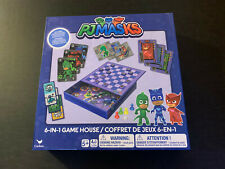 PJ Masks 6-In-1 Game House Multi Card Games Dominoes Checkers Storage Box New