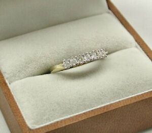 9ct Gold Seven Stone Eternity Style 1/4ct. Diamond Ring