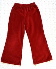 BABY NAY Girl's Red Velvet Dress PANTS sz 5 Christmas Holiday Party