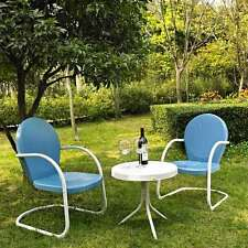 Crosley Griffith 3 Piece Metal Outdoor Seating Set - KO10004BL