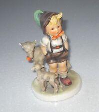 VINTAGE 1960s Goebel Hummel Figurine The Little Goat Herder TMK 4
