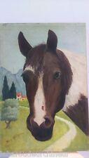 Huile sur toile signé . Oil on canvas signed peintre russe Boris KALININE cheval