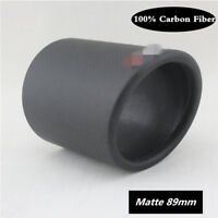 Matte 89mm 100% Carbon Fiber Exhaust pipe Cover Exhaust Muffler Pipe Tip Cover