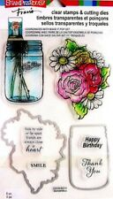 STAMPENDOUS Clear cling stamps & dies MASON JARS for Card making & stamping
