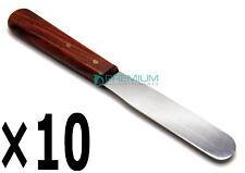 10 Pcs Gypsum Spatula 8 Wooden Handle Cement Spatula Dental Premium Instruments
